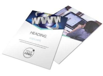 Cutting Edge Website Design Flyer Template