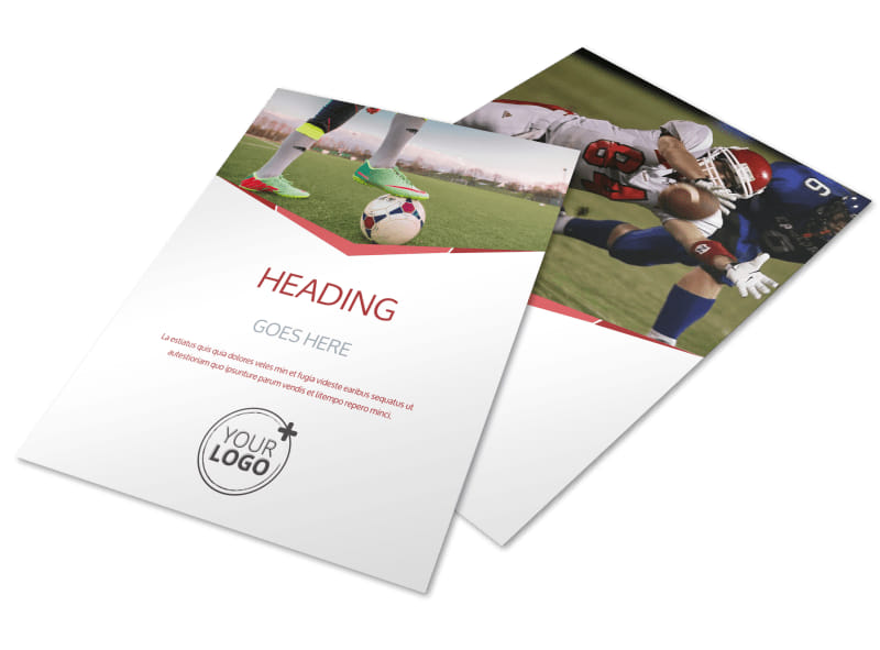 Sports Photography Flyer Template  Mycreativeshop