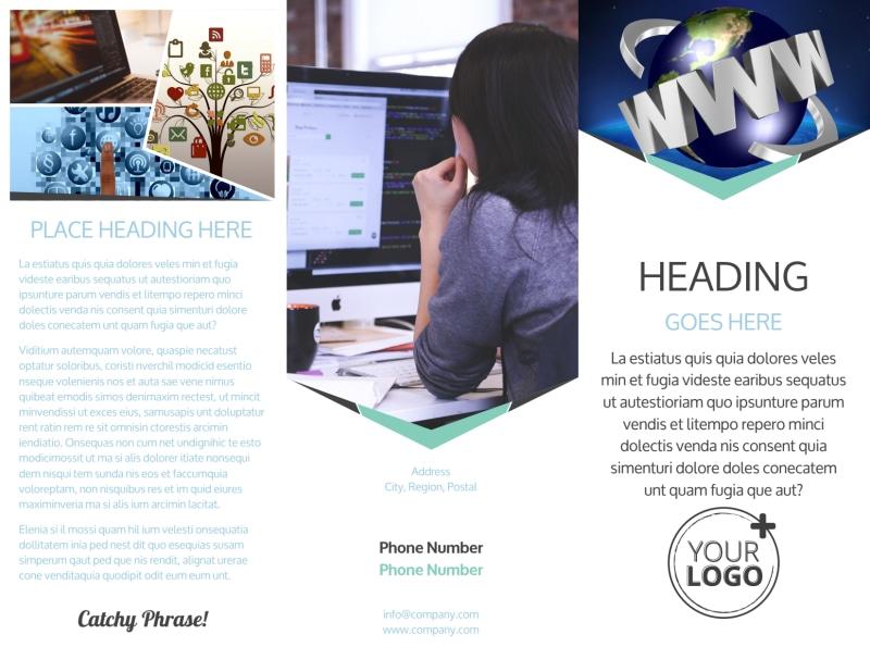 Cutting Edge Website Design Brochure Template Preview 2