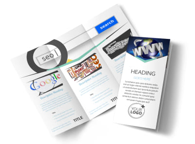 Cutting Edge Website Design Tri-Fold Brochure Template preview