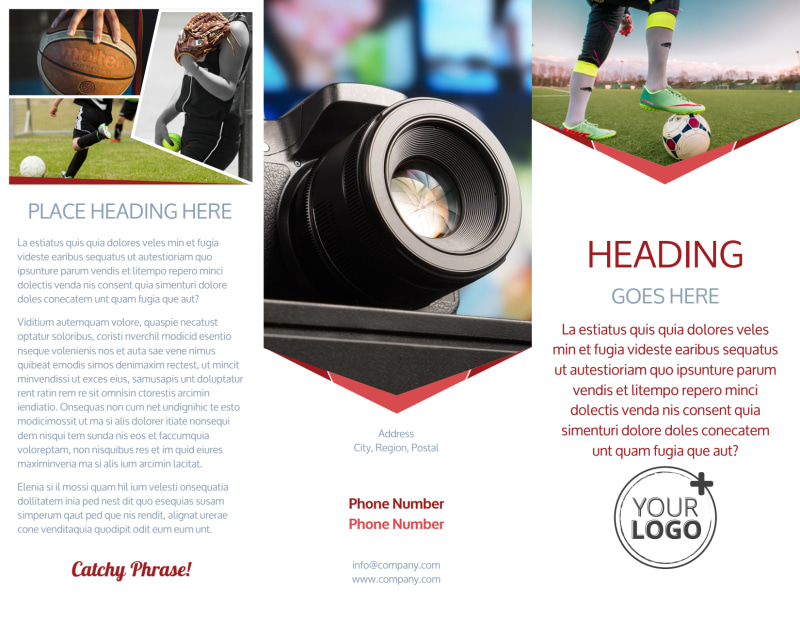 Sports Photography Brochure Template Preview 2