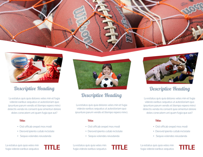 Sports Photography Brochure Template Preview 3