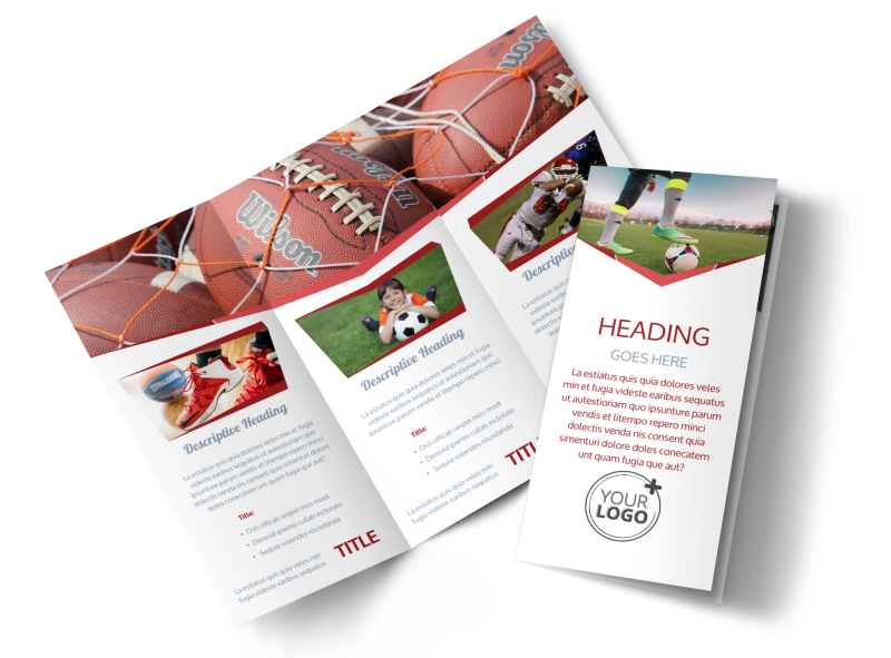 Sports Photography Brochure Template Preview 1