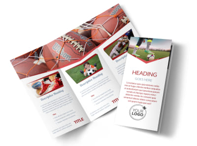 Sports Photography Tri-Fold Brochure Template preview