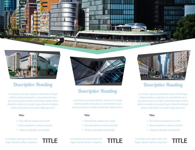 top commercial real estate brochure template. Black Bedroom Furniture Sets. Home Design Ideas