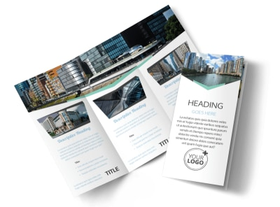 Top Commercial Real Estate Tri-Fold Brochure Template