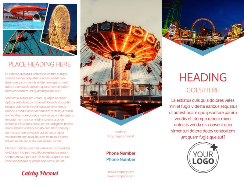 Amusement Park Bundle Brochure Template Preview 2