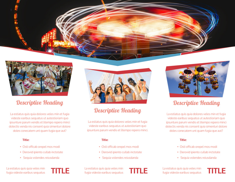 Amusement Park Bundle Brochure Template Preview 3