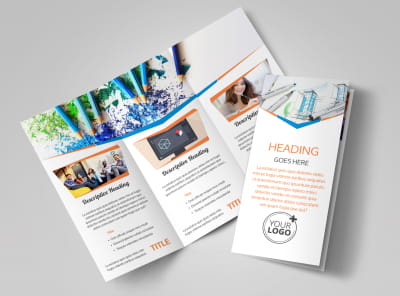 Graphic Design Bundle Tri-Fold Brochure Template preview