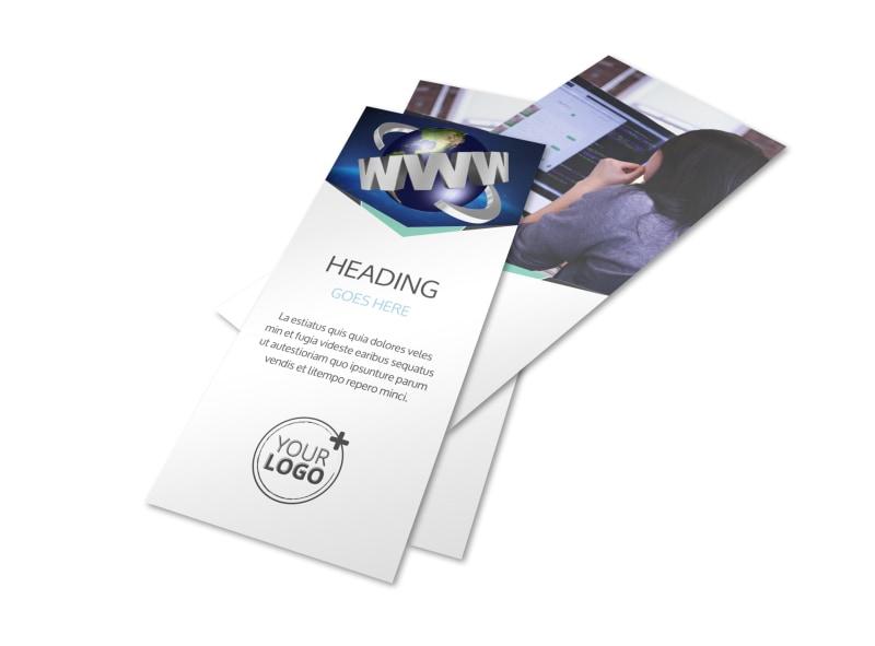 Cutting Edge Website Design Flyer Template 2