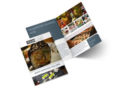 Fine Dining Restaurant Bi-Fold Brochure Template 2