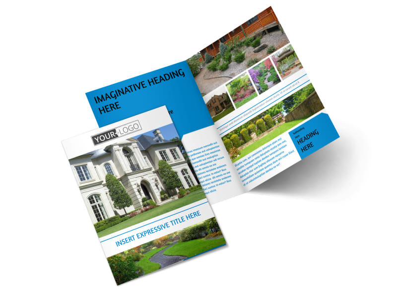 Beautiful Landscape Bi-Fold Brochure Template 2