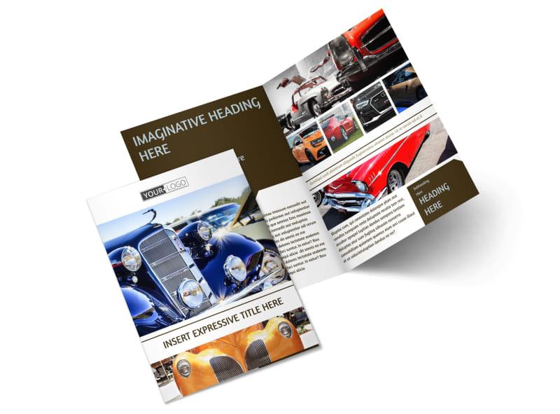 Elegant Car Show Bi-Fold Brochure Template 2