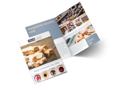 Fine Pastry Shop Bi-Fold Brochure Template 2