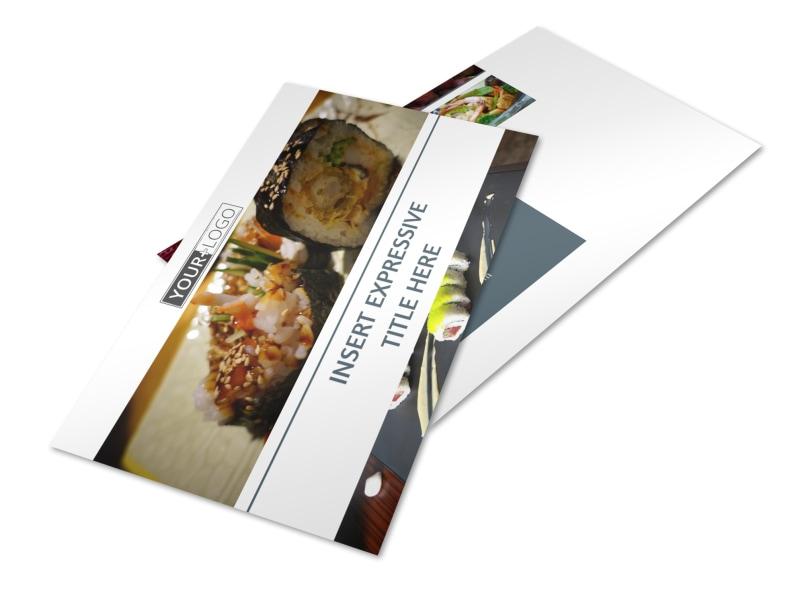 Fine Dining Restaurant Postcard Template 2