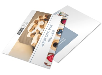 Fine Pastry Shop Postcard Template 2