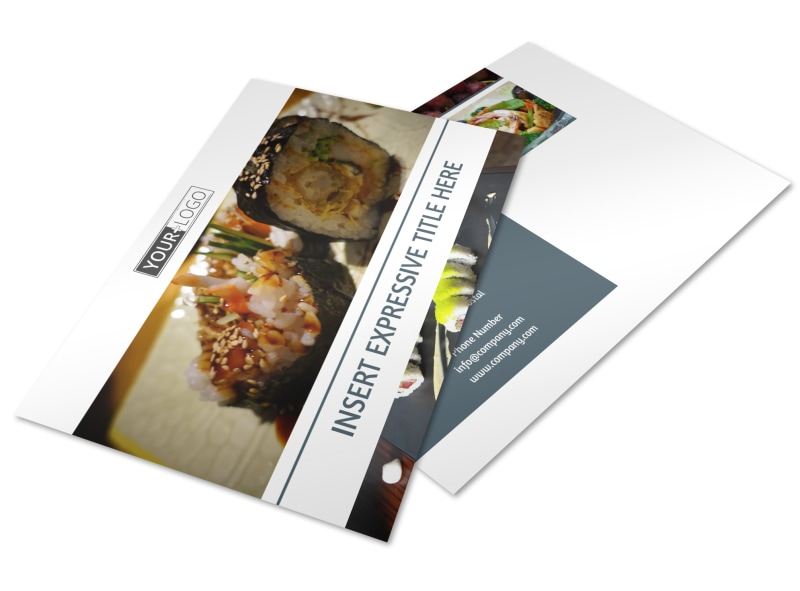 Fine Dining Restaurant Postcard Template