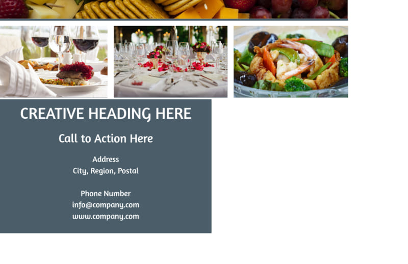 Fine Dining Restaurant Postcard Template Preview 3
