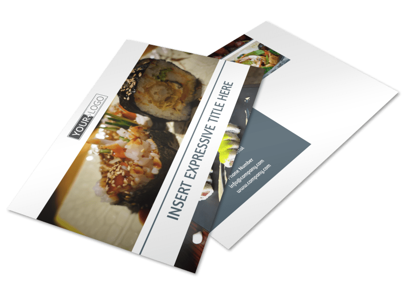 Fine Dining Restaurant Postcard Template Preview 1