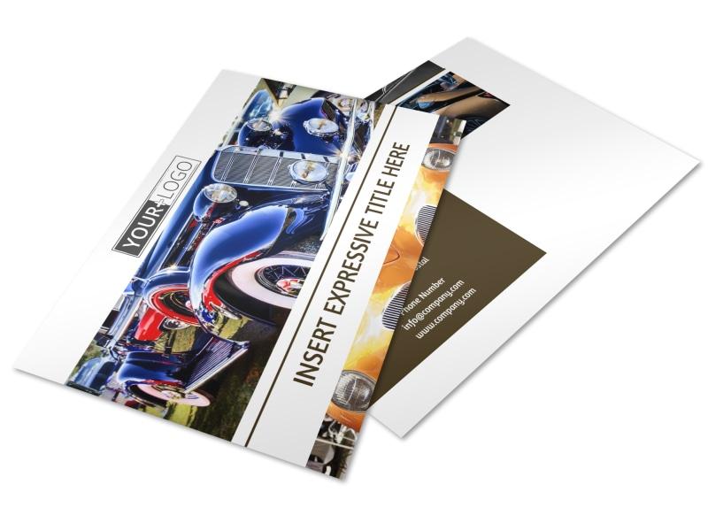 Elegant Car Show Postcard Template