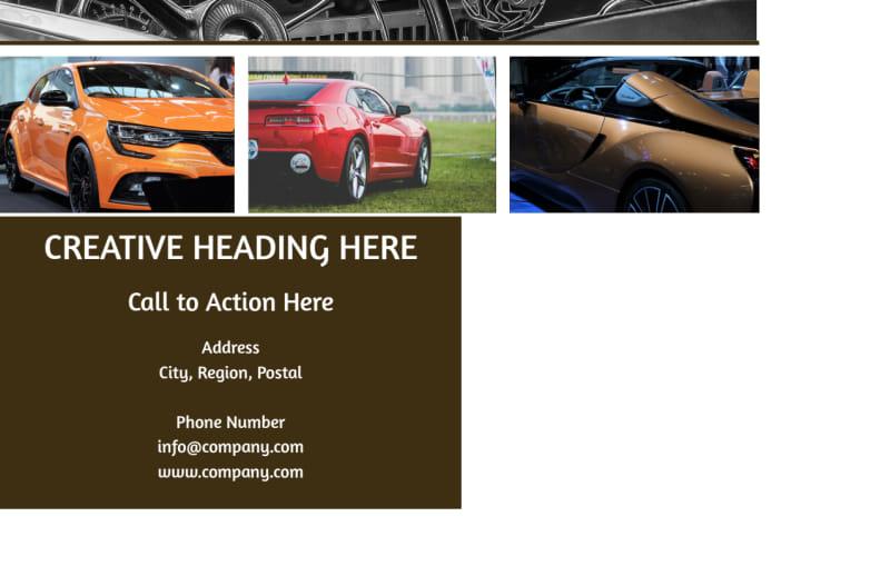 Elegant Car Show Postcard Template Preview 3