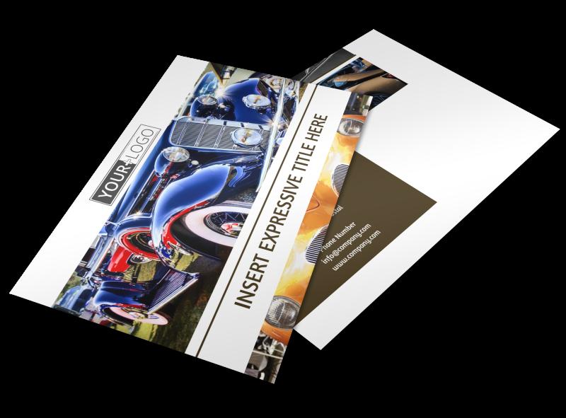 Elegant Car Show Postcard Template Preview 1