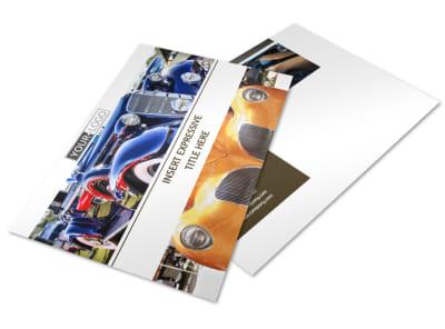 Elegant Car Show Postcard Template preview
