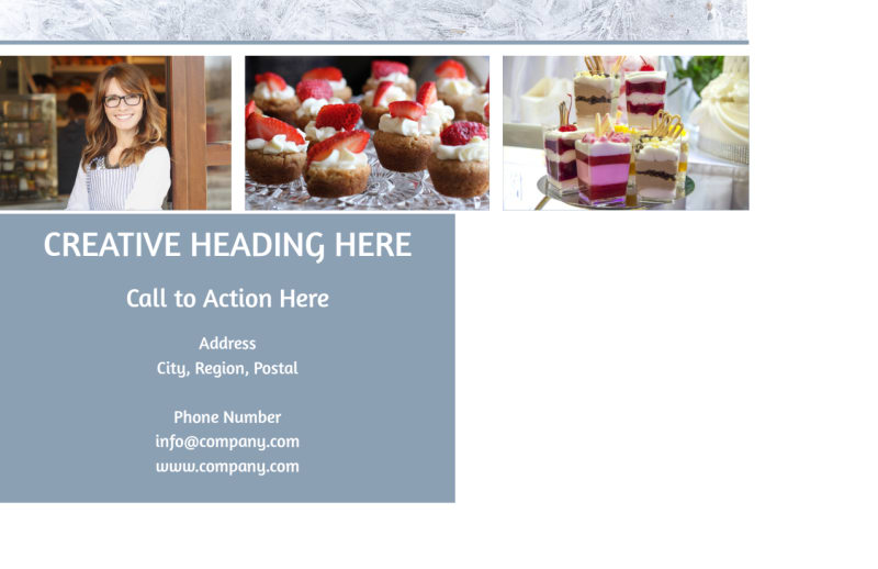 Fine Pastry Shop Postcard Template Preview 3