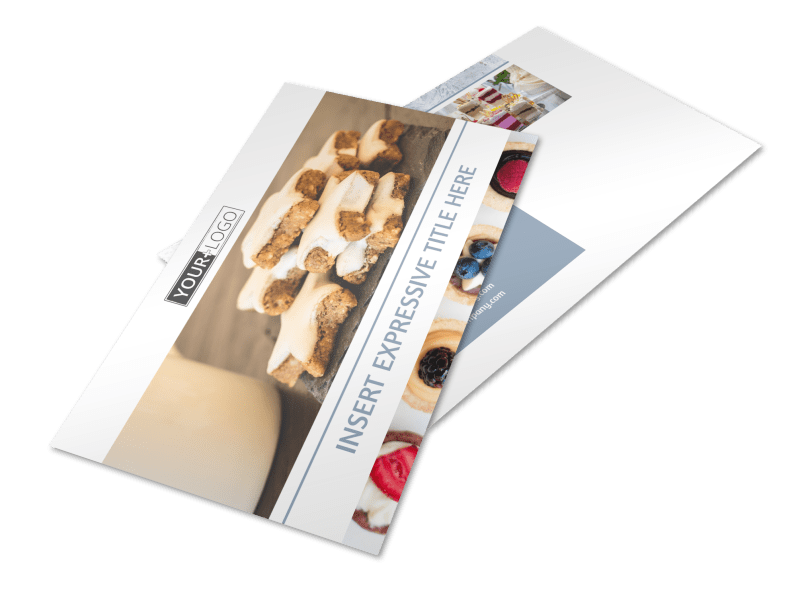 Fine Pastry Shop Postcard Template Preview 1
