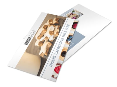 Fine Pastry Shop Postcard Template