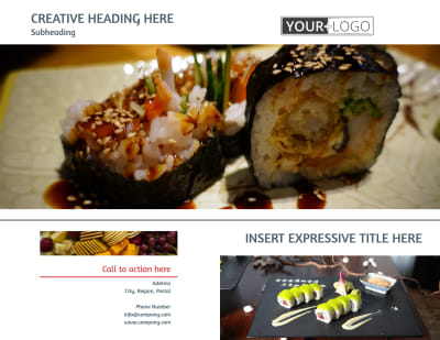 Fine Dining Restaurant Brochure Template Preview 1