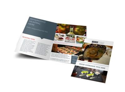 Fine Dining Restaurant Bi-Fold Brochure Template