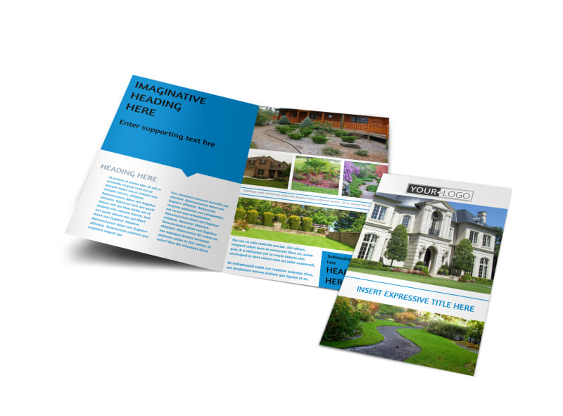 Beautiful Landscape Bi-Fold Brochure Template