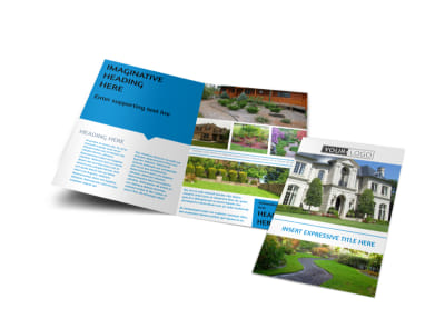 Beautiful Landscape Bi-Fold Brochure Template preview