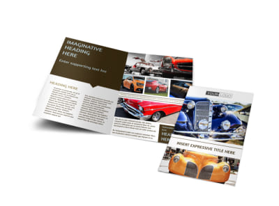Elegant Car Show Bi-Fold Brochure Template preview