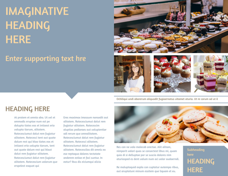 Fine Pastry Shop Brochure Template Preview 3