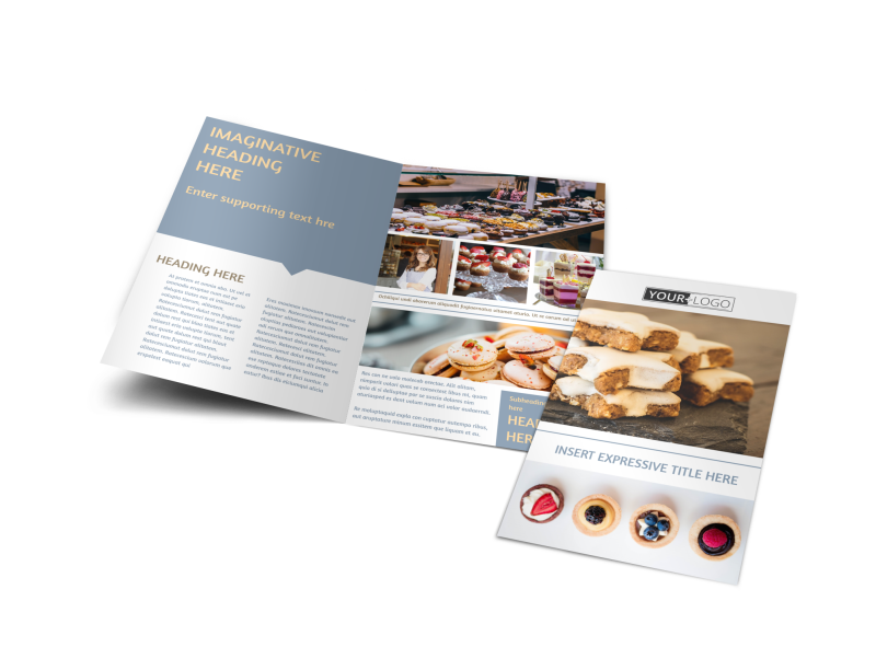 Fine Pastry Shop Brochure Template Preview 1