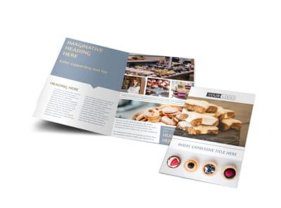 Fine Pastry Shop Bi-Fold Brochure Template