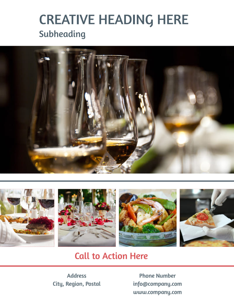 Fine Dining Restaurant Flyer Template Preview 3