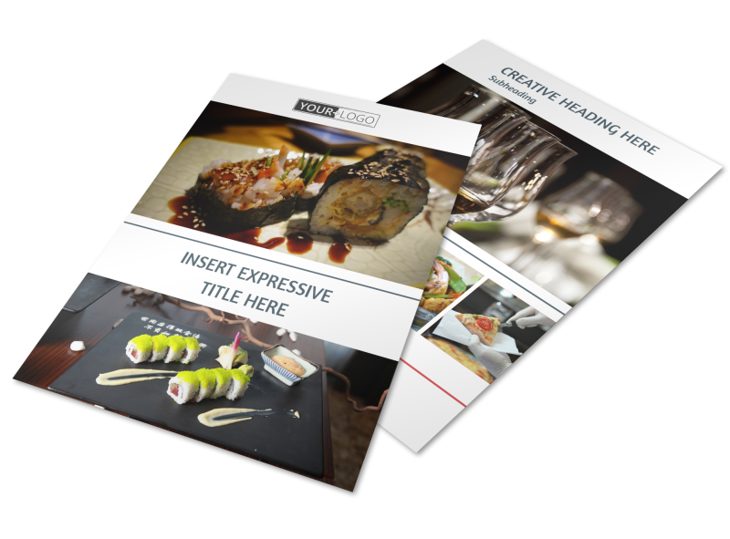 Fine Dining Restaurant Flyer Template Preview 1