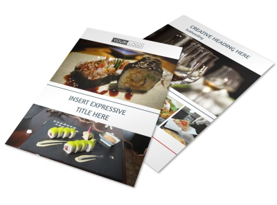 Fine Dining Restaurant Flyer Template preview