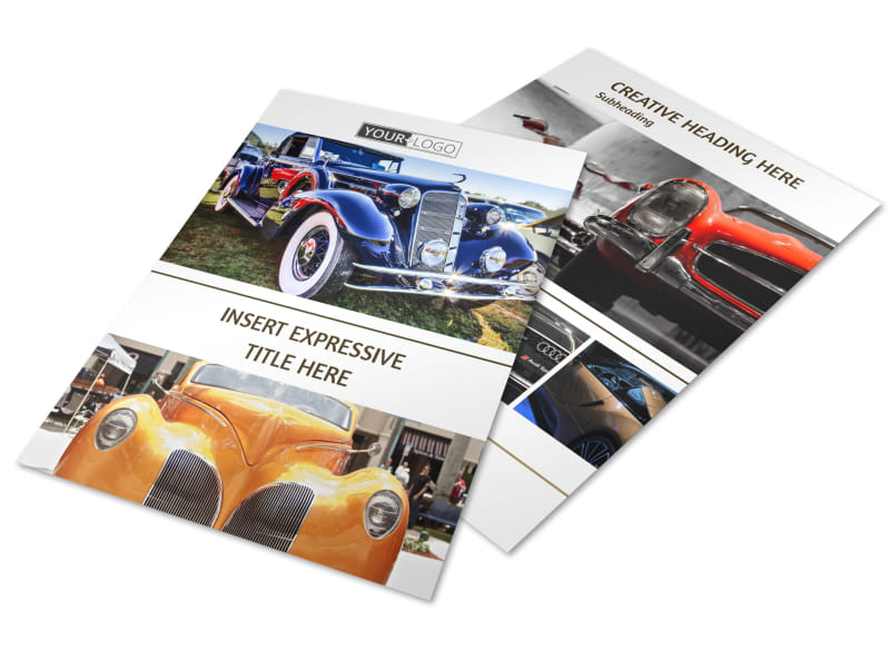 Elegant Car Show Flyer Template Mycreativeshop