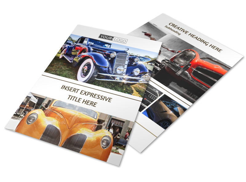 Elegant Car Show Flyer Template Preview 1