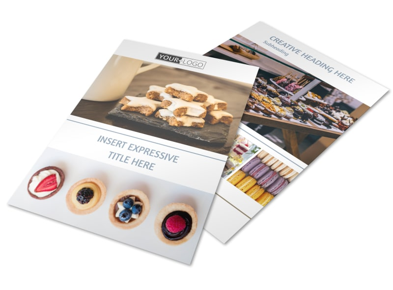 Fine Pastry Shop Flyer Template