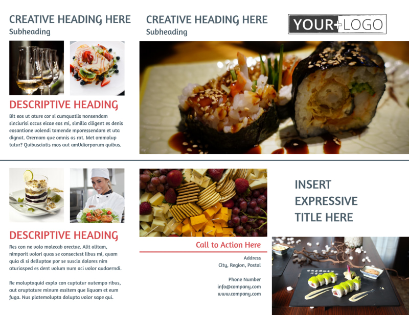 Fine Dining Restaurant Brochure Template Preview 2