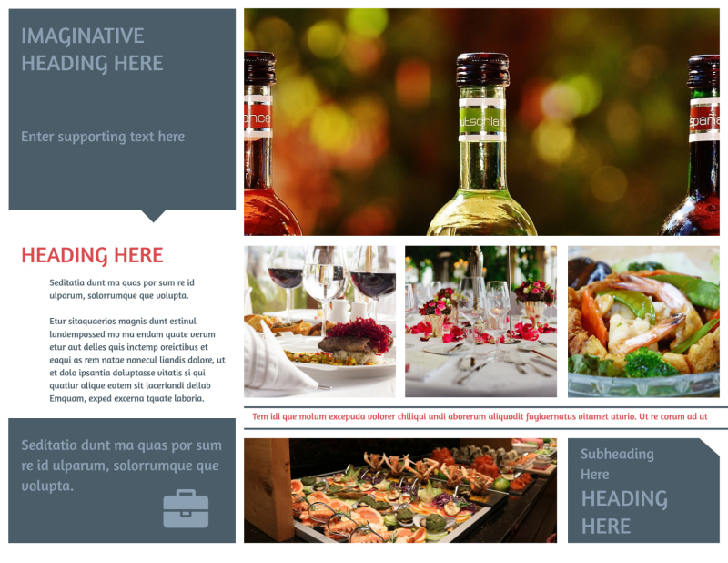 Fine Dining Restaurant Brochure Template Preview 3