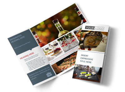 Fine Dining Restaurant Tri-Fold Brochure Template preview