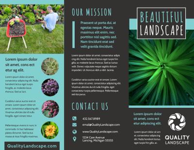 Beautiful Landscape Brochure Template Preview 1