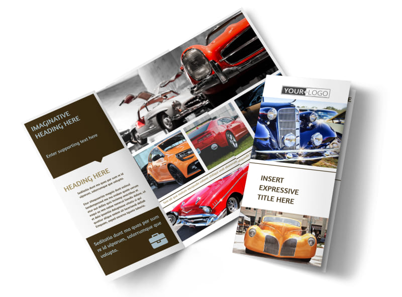 Elegant Car Show Brochure Template Preview 4