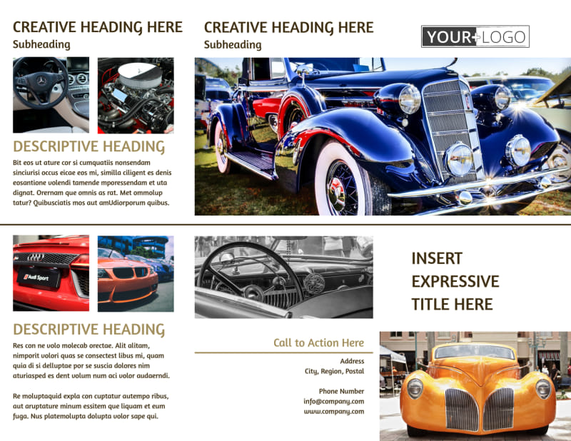 Elegant Car Show Brochure Template Preview 2